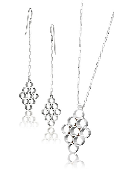 Nava Linear Earrings and Pendant