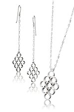 Nava Linear Earrings and Pendant by Thea Izzi (Silver Jewelry)