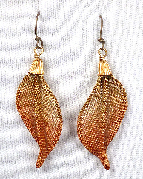 Twist Leaf Earrings