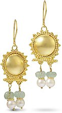 22k Gold Roman Earrings by Nancy Troske (Gold & Stone Earrings)