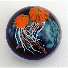 Jellyfish Paperweight by Mayauel Ward (Art Glass Paperweight)