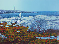 Daybreak, Peggys Cove by William Hays (Linocut Print)