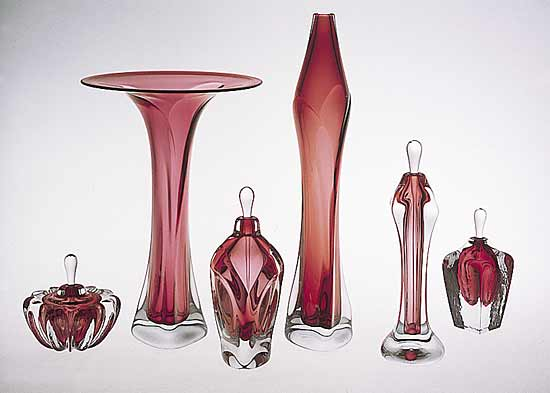 Blown Glass Vases and Perfumes