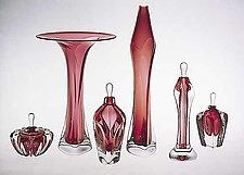 Blown Glass Vases and Perfumes by Jonathan Winfisky (Art Glass Form)