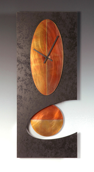 Black Oval Pendulum Clock