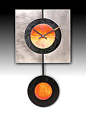 Slice Pendulum Clock by Leonie  Lacouette (Metal & Wood Clock)
