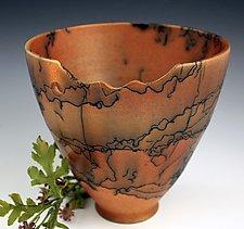 Horsehair High Bowl by David Gordon (Ceramic Bowl)