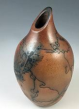 Horsehair Bottle - Style 2 by David Gordon (Ceramic Bottle)