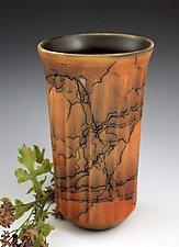 Horsehair Fluted Vase by David Gordon (Ceramic Vase)