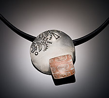 A Disk with a Square Pendant by Louise Norrell (Silver & Copper Necklace)