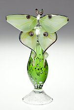 Luna Moth Perfume Bottle by Loy Allen (Art Glass Perfume Bottle)