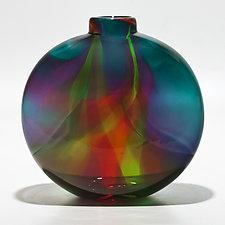 Transparent Ribbon Vase by Michael Trimpol and Monique LaJeunesse (Art Glass Vase)
