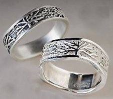 Tree Rings by Connie Ulrich (Silver Wedding Band)