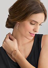 Natalie Earrings & Camille Cuff by Britt Anderson (Gold Jewelry)