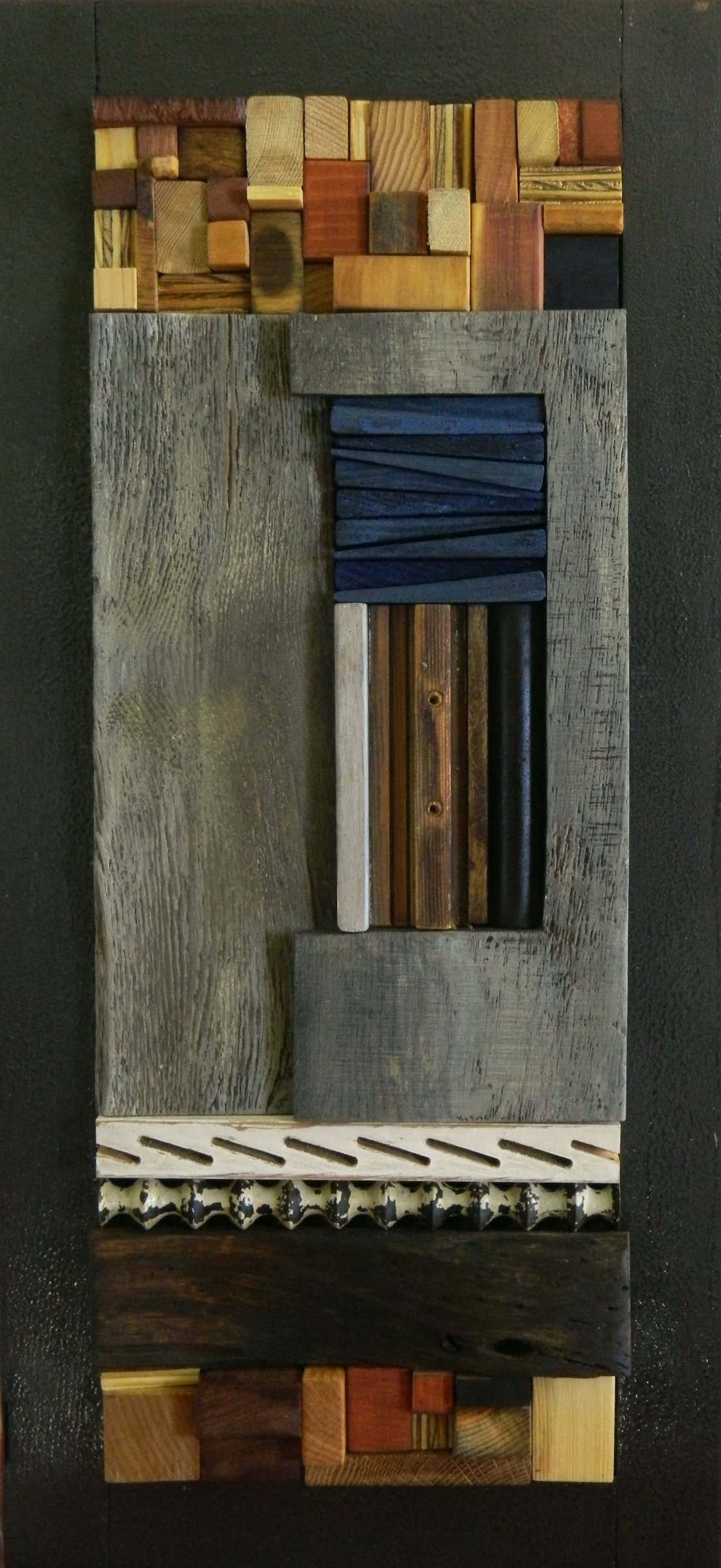 Floor Window Heather Patterson Wood Wall Sculpture