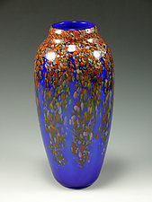 Classic Fall Wisteria Vase by Mark Rosenbaum (Art Glass Vase)