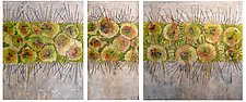 Spores Triptych by Joanie San Chirico (Acrylic Painting)
