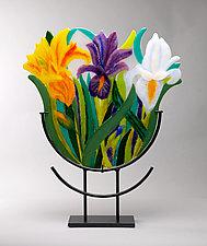 Iris Trio by Anne Nye (Art Glass Sculpture)