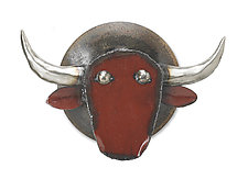 Blaze the Bull by Ben Gatski and Kate Gatski (Metal Wall Sculpture)