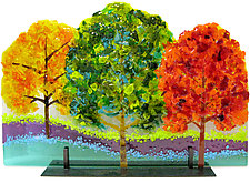 Three Trees by Anne Nye (Art Glass Sculpture)