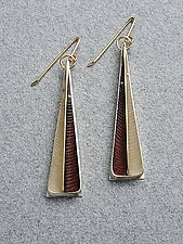 Chris Feather Earring by Eileen Sutton (Silver & Resin Earrings)