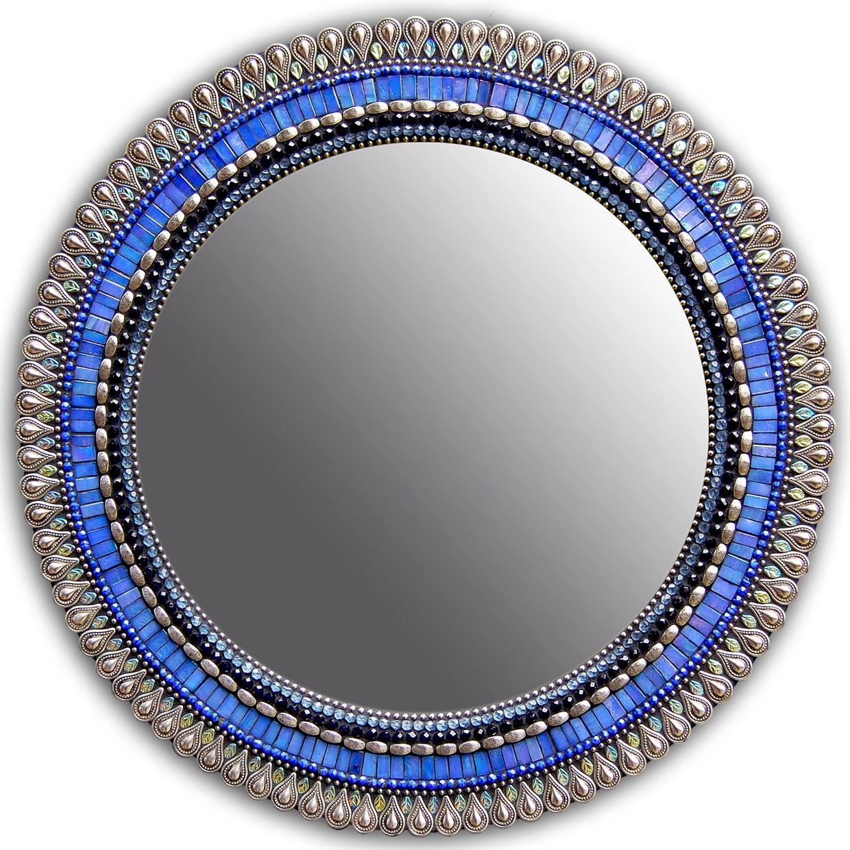 Iris drop by angie heinrich mosaic mirror artful home for Mosaic mirror