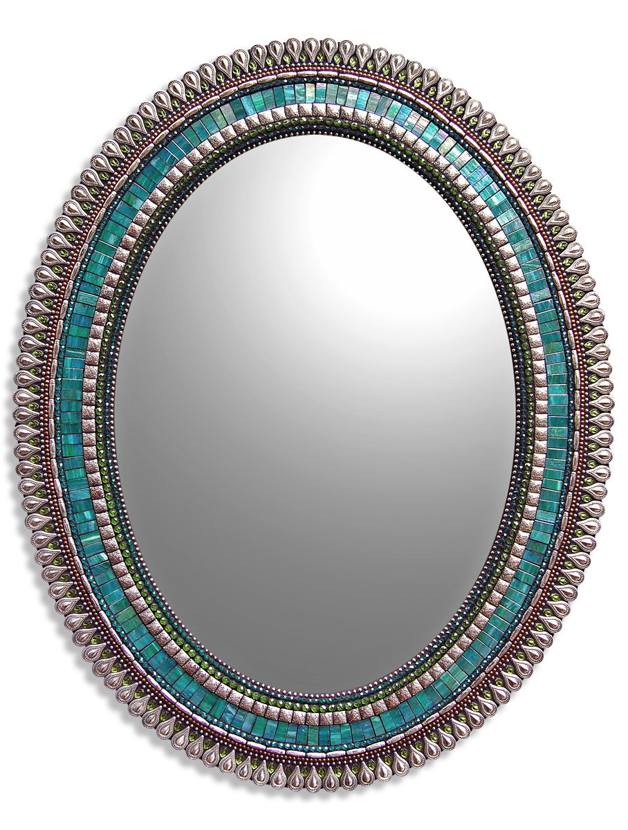 Teal Drop By Angie Heinrich Mosaic Mirror Artful Home