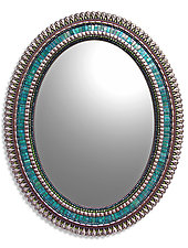Teal Drop by Angie Heinrich (Mosaic Mirror)