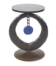 Blue Circle Table by Ben Gatski and Kate Gatski (Metal Side Table)