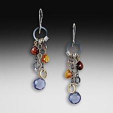 Iolite Long Jambalaya Earrings by Suzanne Q Evon (Silver & Stone Earrings)
