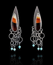 Montana Agates with Turquoise by Ashley Vick (Silver & Stone Earrings)
