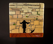 Western Wall - Solitude by Vicky Kokolski and Meg Branzetti (Art Glass Wall Sculpture)