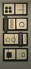 Four Panels by Lori Katz (Ceramic Wall Sculpture)