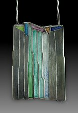 Waterfall Pendant No.416 by Carly Wright (Enameled Necklace)