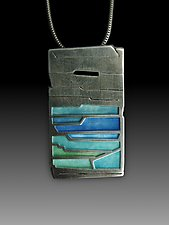 Rock Layers Pendant No. 425 by Carly Wright (Enameled Necklace)