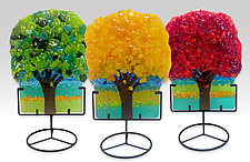 Mini Tree Set by Anne Nye (Art Glass Sculpture)