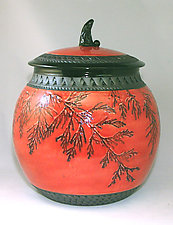 Red Cookie/Canister by Suzanne Crane (Ceramic Cookie Jar)