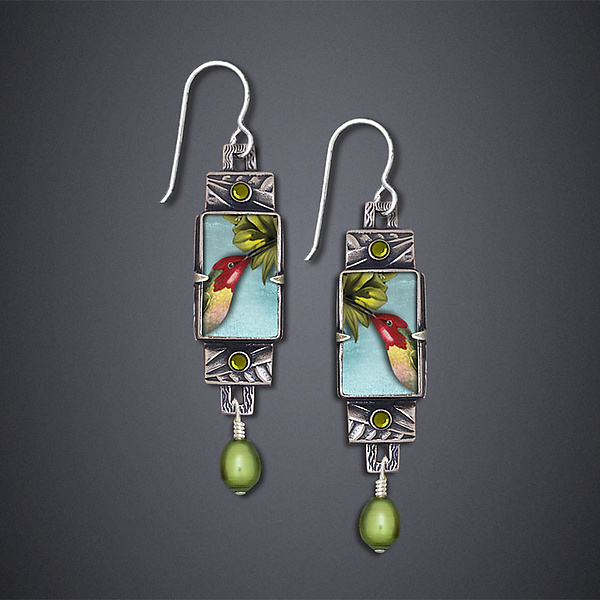 Trochilus Anna Hummingbird Earrings