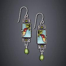 Trochilus Anna Hummingbird Earrings by Dawn Estrin (Silver Earrings)