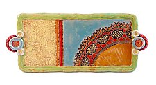 Esperanza Medium Tray by Laurie Pollpeter Eskenazi (Ceramic Tray)