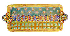 Garden Party Medium Tray by Laurie Pollpeter Eskenazi (Ceramic Tray)