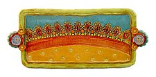 Harlequin Medium Tray by Laurie Pollpeter Eskenazi (Ceramic Tray)