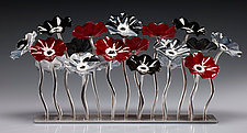 Black Cherry Garden Table Centerpiece by Scott Johnson and Shawn Johnson (Art Glass Sculpture)