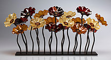 Sonoran Garden Table Centerpiece by Scott Johnson and Shawn Johnson (Art Glass Sculpture)