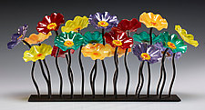 Surprise Garden Table Centerpiece by Scott Johnson and Shawn Johnson (Art Glass Sculpture)