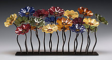 Bourbon Garden Table Centerpiece by Scott Johnson and Shawn Johnson (Art Glass Sculpture)