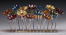 Champagne Garden Table Centerpiece by Scott Johnson and Shawn Johnson (Art Glass Sculpture)