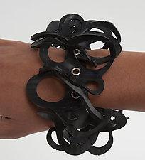 Jessica Bracelet by Kathleen Nowak Tucci (Steel & Rubber Bracelet)