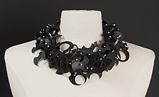 Marie Jean Necklace by Kathleen Nowak Tucci (Steel & Rubber Necklace)