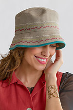 Bucket Hat by Renee Roeder-Earley  (Linen Hat)